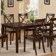 Set Of 4 Dining Room Chairs East West Furniture Capri 5 Piece 60x36 Dining Room Set W 4