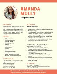 Professional Resume Examples 2020 Paraprofessional Resume Example