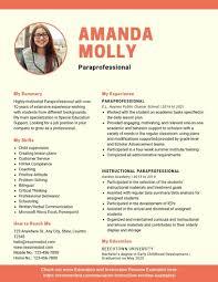 Paraprofessional Resume Example