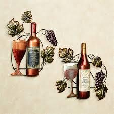wine lovers selection wall art multi jewel set of two on wall art lovers with wine lovers selection metal wall art set
