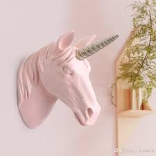 ins toys unicorn head wall hanging decoration cute 3d stickers