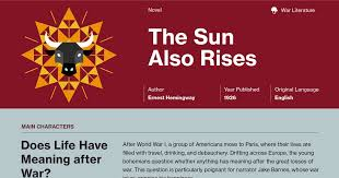 the sun also rises study guide course hero