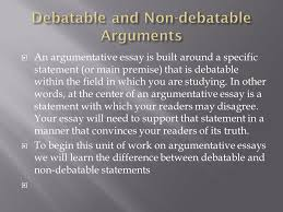 an argumentative essay uses reasoning and evidence not emotion to  an argumentative essay is built around a specific statement or main premise that