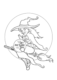Small Picture Pretty witch coloring page for kids printable free Halloween