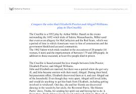 compare the roles that elizabeth proctor and abigail williams play document image preview