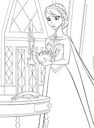 Small Picture 87 best Disney Frozen Coloring Pages Disney images on Pinterest