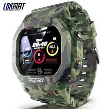 <b>LOKMAT Ocean Smart Watch</b> Touch Screen Heart Rate IP68 ...