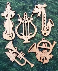 scroll saw christmas ornaments. musical instrument cherry scroll saw ornament set christmas ornaments