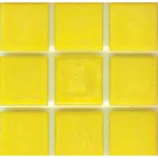 brio bright yellow glass mosaic tile tulip modwalls designer modern tile