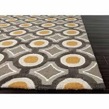 geometric pattern area rugs rugs hand tufted geometric pattern polyester gray yellow area rug home ideas