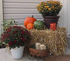 Outside Fall Decor Decorating Decorations Exteriors Images Outdoor Fall Decorating Ideas