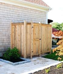 outdoor showers kits enclosures cedar or pvc shower pipe enclosure