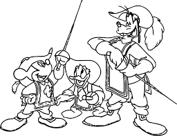 Disney The Three Musketeers Coloring Pages Wecoloringpagecom