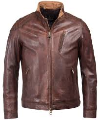 men s barbour international james leather jacket cognac