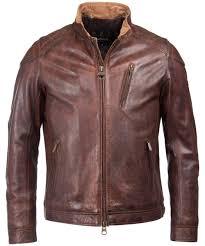 men s barbour international james leather jacket cognac