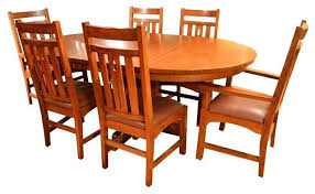 royal oak dining table set with 4 chairs brown hudson round extending bewley slate solid wood and arts crafts mission 6 mi