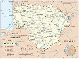ليتوانيا بلد خريطة - خريطة ليتوانيا بلد (شمال أوروبا - أوروبا)