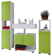 Vcm Badset 4 Tlg Pandol Komplett Badmöbel Bad Set Farbe Weiß Grün