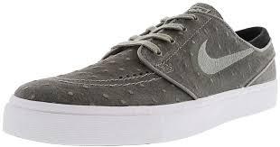 lyst nike zoom stefan janoski l dust black white low top leather skateboarding shoe 10m in black for men