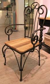 wrought iron and wood furniture. Dining Chairs Wrought Iron And Wood Throughout Designs 17 Furniture E