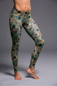 Patterned Yoga Pants Custom Onzie Full Length Yoga Leggings Peacock Yoga Emporium