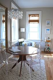 clear dining room set