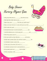 Free Printable Baby Shower Nursery Rhyme GamesShower Games For Baby