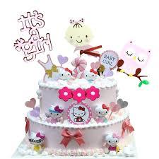 Kids Birthday Cakes Cute Owl Flower Happy Birthday Cake Toppers
