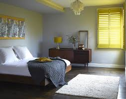 grey yellow bedroom decorating ideas