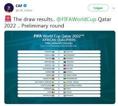 Die spiele gegen katar finden alle in europa als freundschaftsspiele statt und gehen daher nicht in die wertung ein. Wm 2022 Afrika Qualifikation Erste Runde Ausgelost Fbwm Online