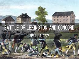 「The battles of Lexington and Concord」の画像検索結果
