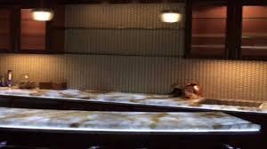 countertop lighting. Backlit Onyx Countertop Illuminated With The SLABlite LED Light Panel Lighting