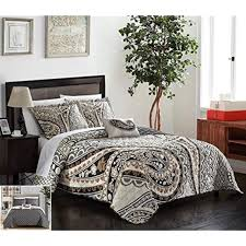 4 quilt sets piece bryson large scale paisley contemporary reversible printed