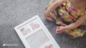 baby hand and footprint photo frame kit babyboon