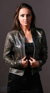 sledge women fashion authentic leather jacket
