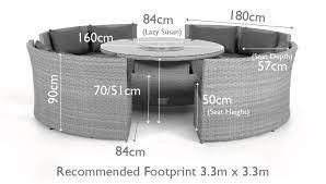 fenetti ascot round sofa dining set
