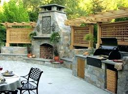 covered outdoor kitchens with fireplace. Unique With Outdoor Kitchens With Fireplace Stone Gray  Kitchen Design Regency Fireplaces To Covered Outdoor Kitchens With Fireplace E