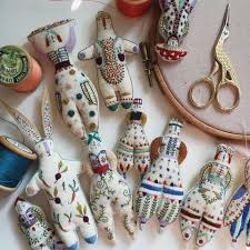 My Paisley World: Megan Ivy Griffith's Fanciful Embroidered Dolls