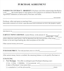 Property Sales Contracts Custom Simple Purchase Agreement Form Sale Template And Free Brochure