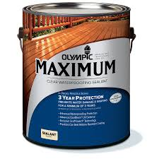 Shop Olympic MAXIMUM Clear Exterior Stain Actual Net Contents - Exterior waterproof sealant