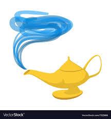 Lamp Aladdin Cartoon Icon Royalty Free Vector Image