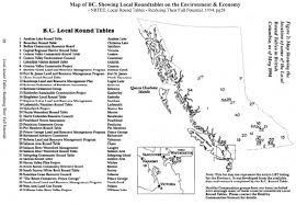 map of bc local roundtables 1994