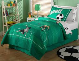 soccer bedding twin sheet set and valance option 4