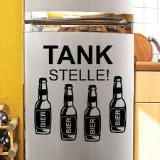 Kühlschrankaufkleber Tankstelle