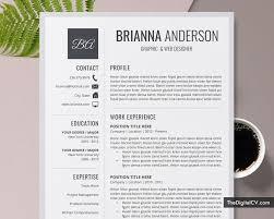 Modern Creative Resume Template Template Download Creative Cv Template Word Editable