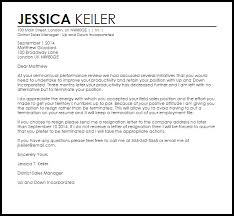 example letter of resignation resignation in lieu of termination letter example letter samples