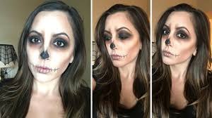 easy skull makeup tutorial fancy lashes lips you