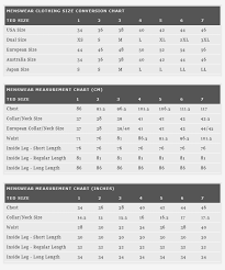 Ted Baker London Men S Size Chart Ted Baker London Apparel Size Guide