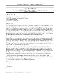 physical education cover letter sample secondary teacher educational cover letters