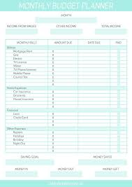 Budget For Free Free Printable Monthly Budget Planner